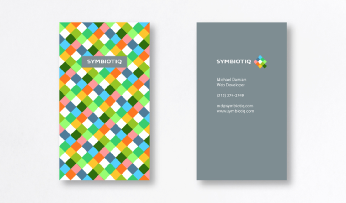 colorful pattern business card design