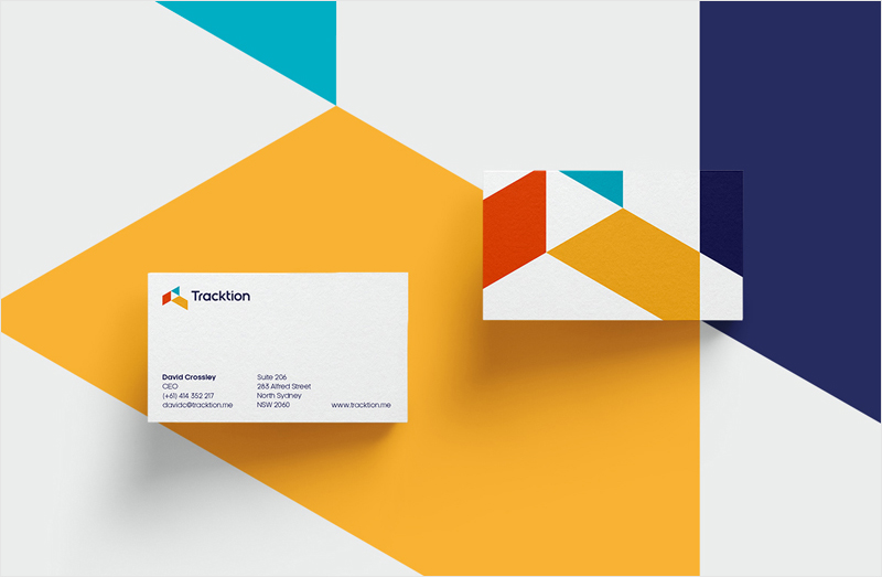 geometric minimal business card design inspiration