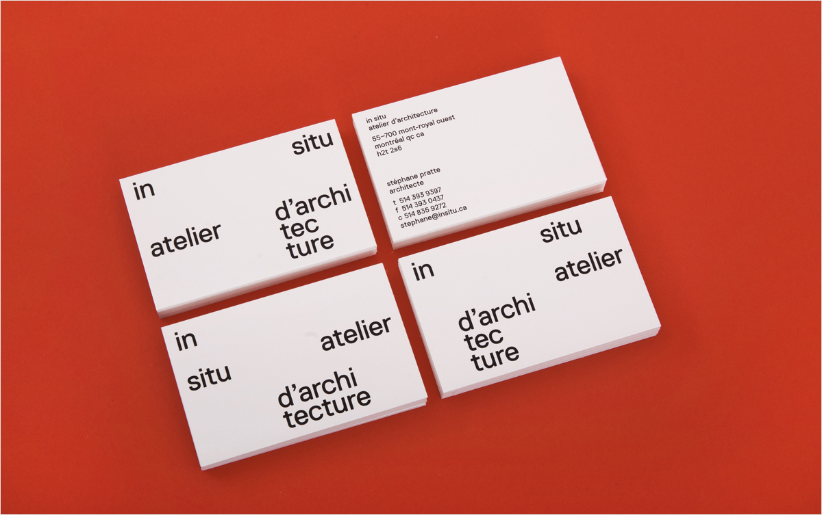 abstract minimalist business card design