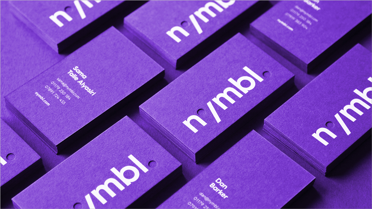 bold purple business card design