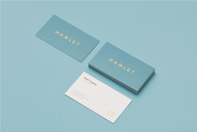 stylish elegant business card design
