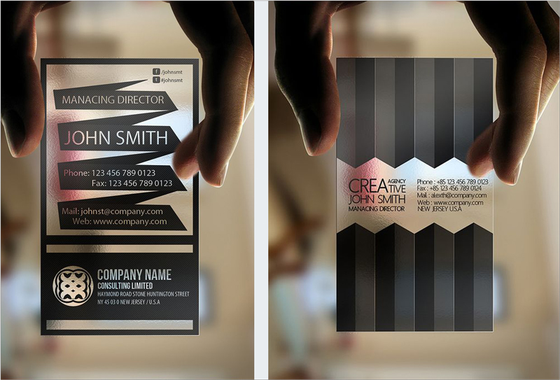 Business card design inspiration 60 eye catching examples visual transparent business card design reheart Images