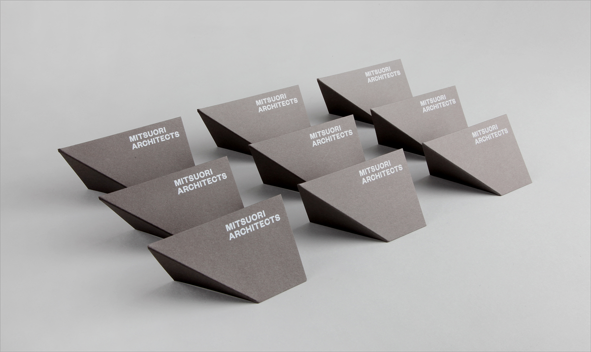 Folding business card design for architects