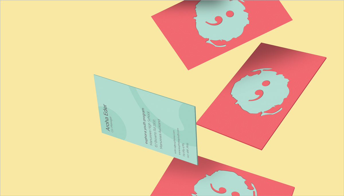 flat design business card design