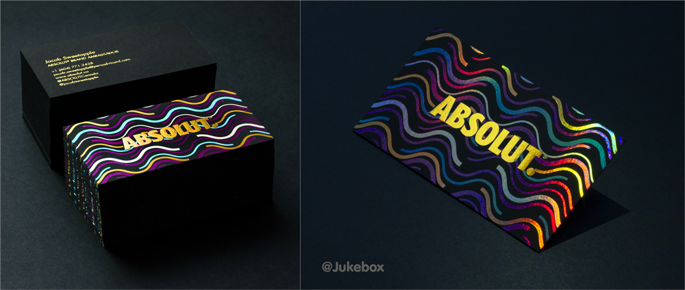 retro foil business card design