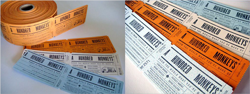 ticket business card design