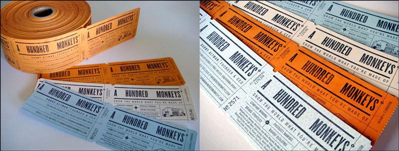 ticket business card design