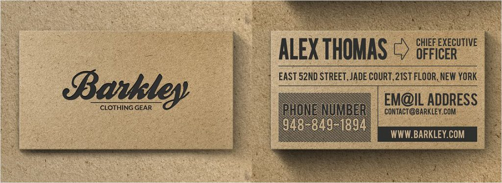 kraft paper business card design