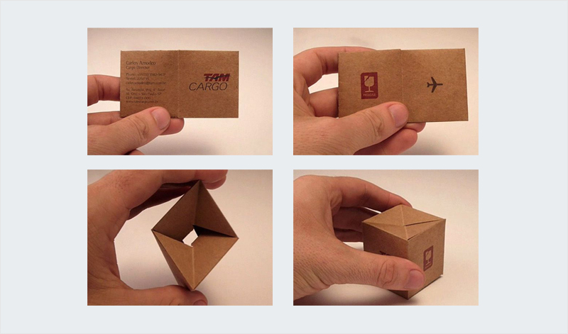 clever 3d folding business card design