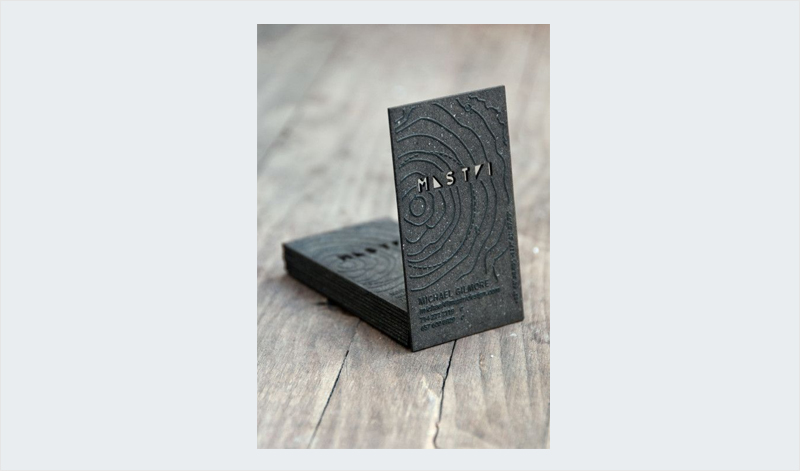custom thick paper relief business card desing