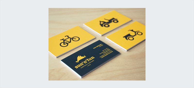 fun clean icon business card design