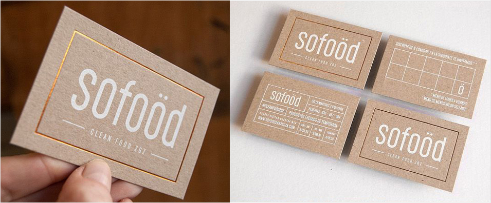gold foil business card design inspiration