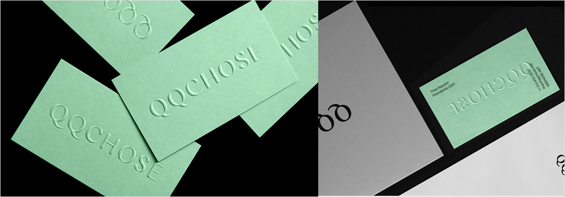elegant mint green business card design