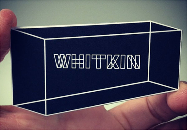visual illusion business card design