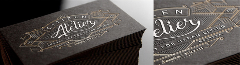 vintage typography business card design