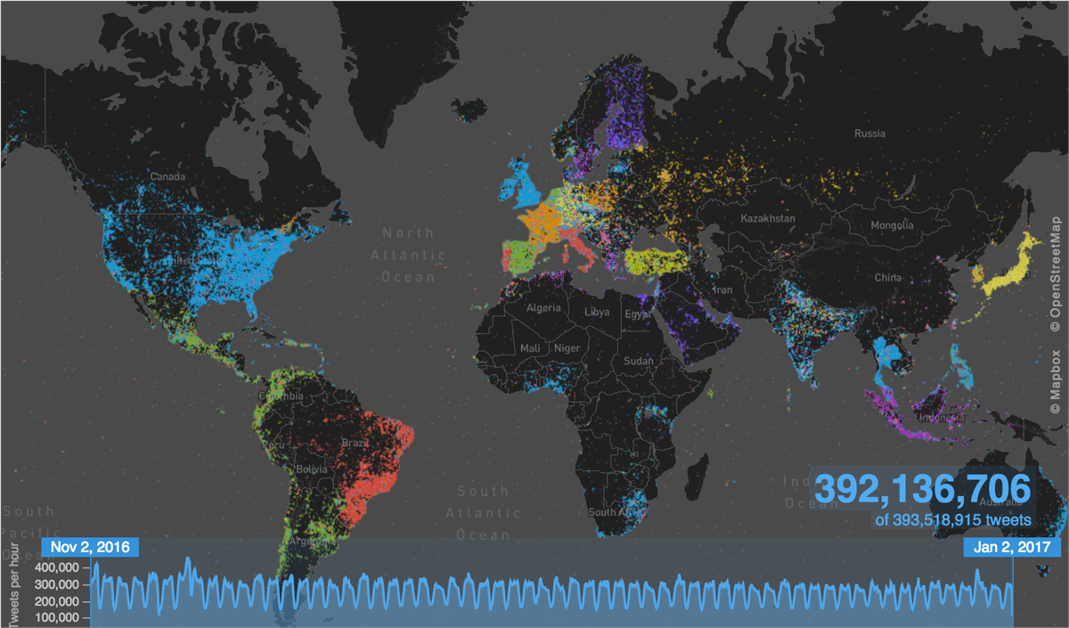 real time tweet map
