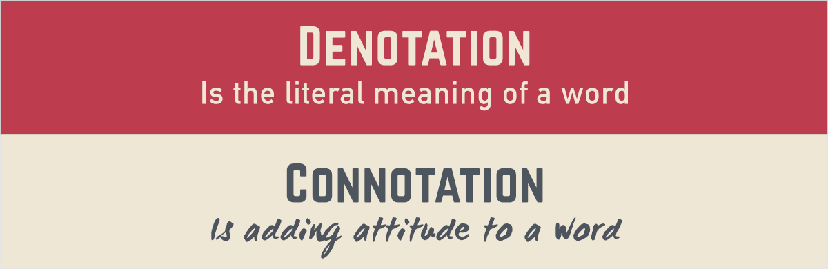 definition denotation connotation