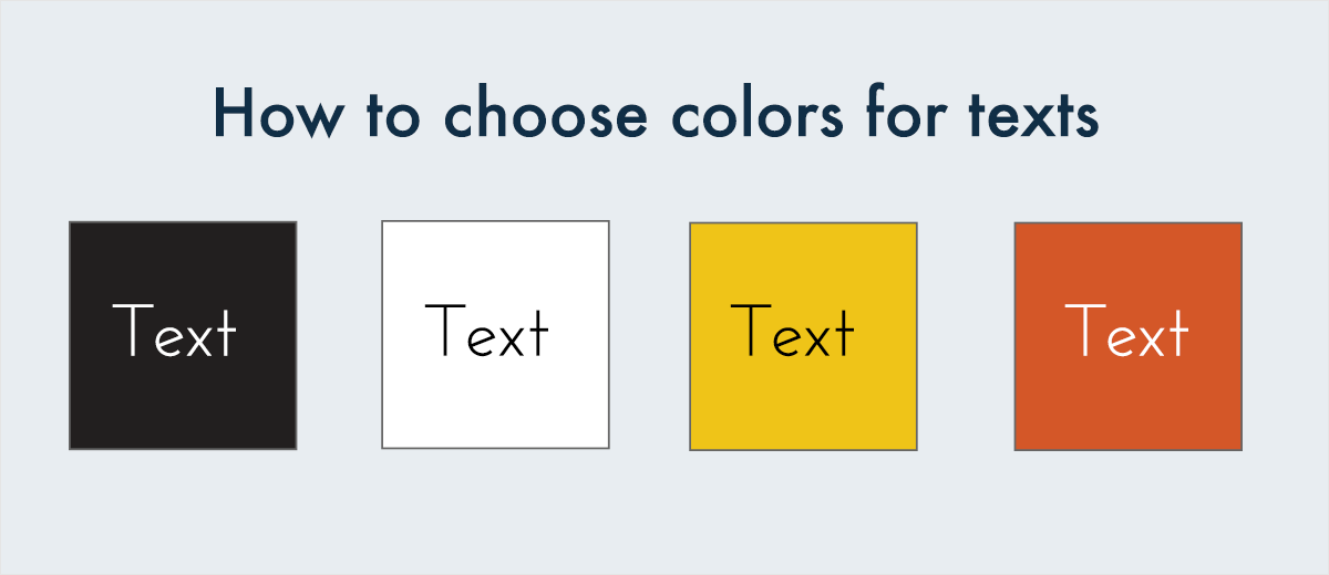 how to choose colors for text