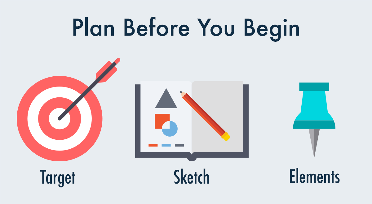 plan your infographic before you begin to choose color schemes