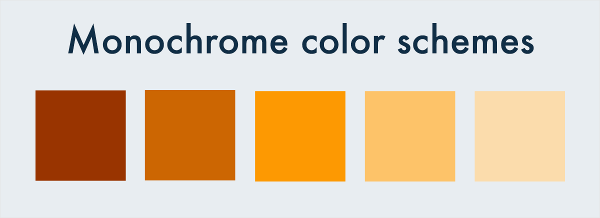 monochromatic color schemes - Color Schems