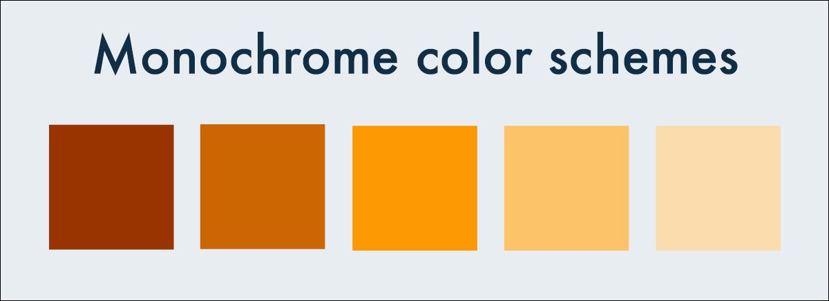 monochromatic color schemes