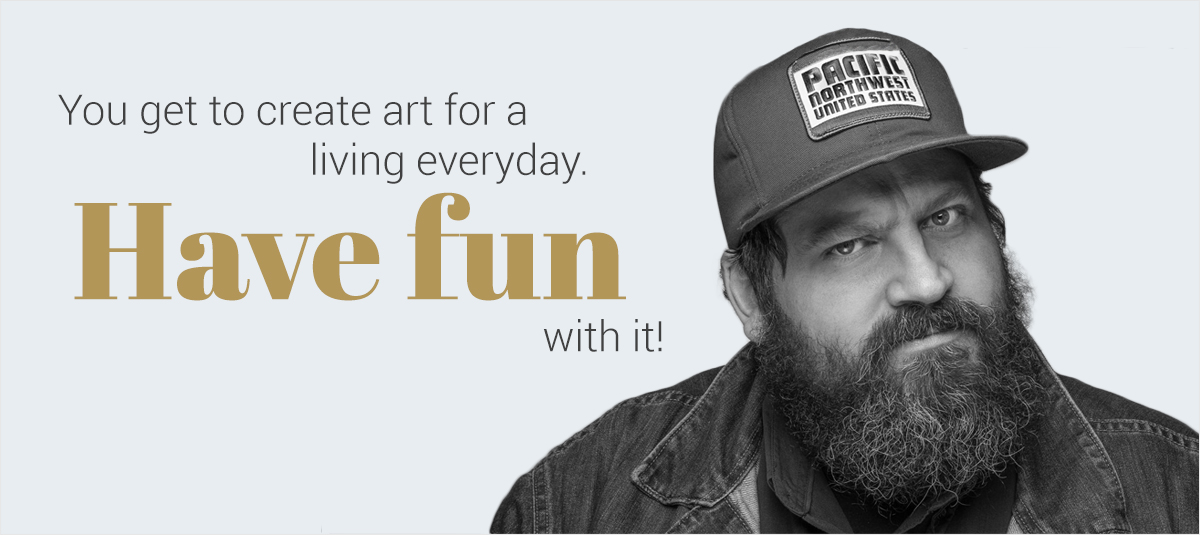 Aaron-Draplin-1 you get to create art for a living everyday. have fun with it!