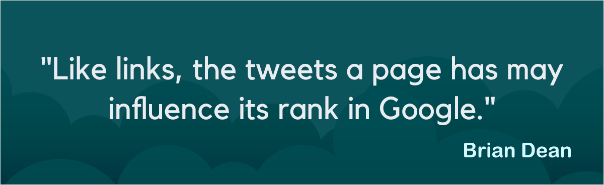 like links the tweets a page has may influence its rank in google
