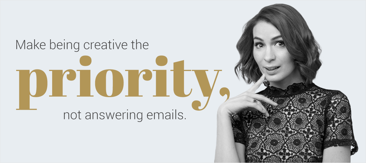 Felicia-Day make being creative the priority, not answering emails