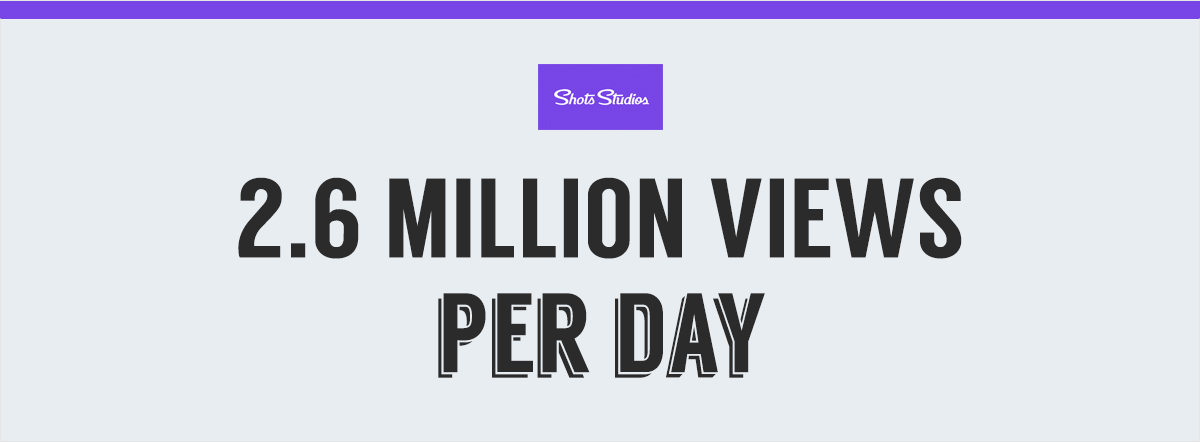 shots 2.6 million views per day 10 Niche Social Networks Perfect for Sharing Visual Content