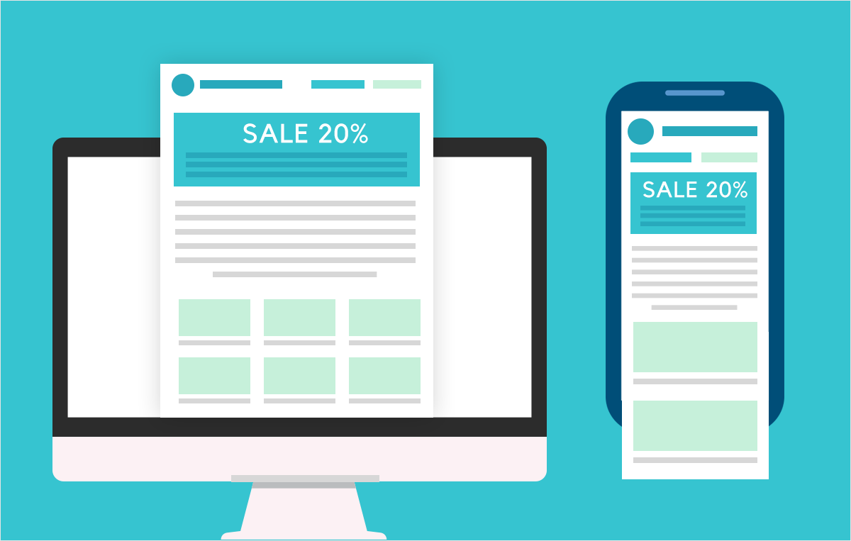 mobile first newsletter design