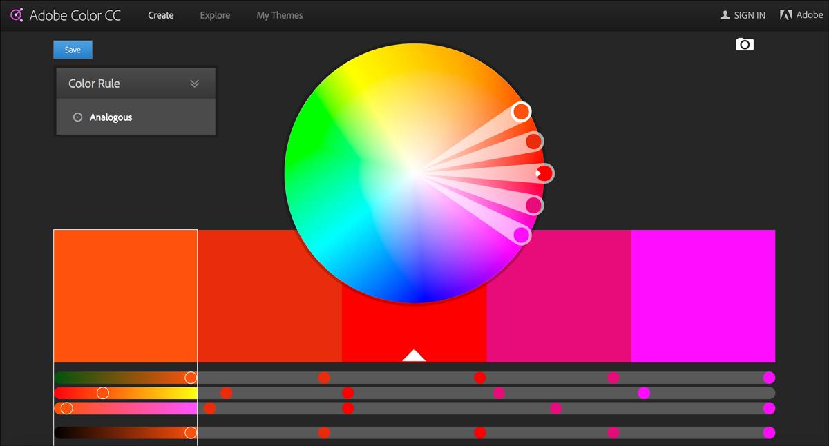 free design resources-Color-pickers-Adobe-Kuler
