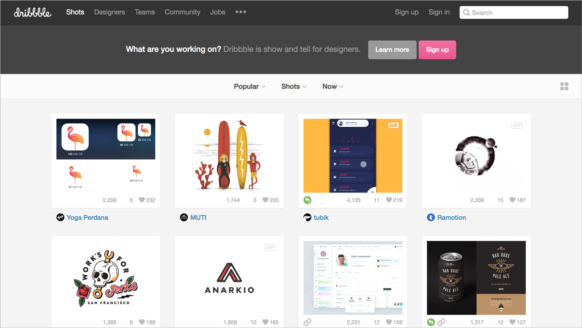 free design resources-Design-Inspiration-Dribbble