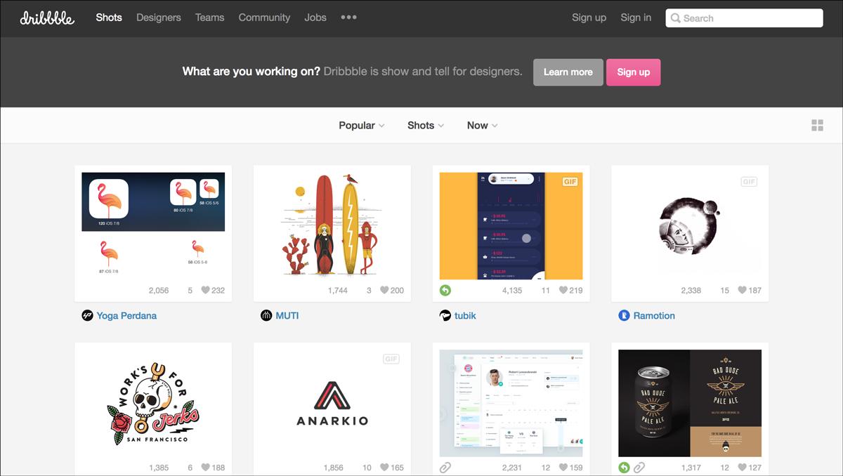 free design resources-Design-Inspiration-Dribbble