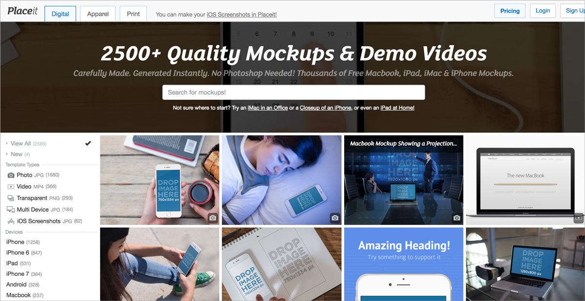 free design resources-Free-Design-Tools placeit