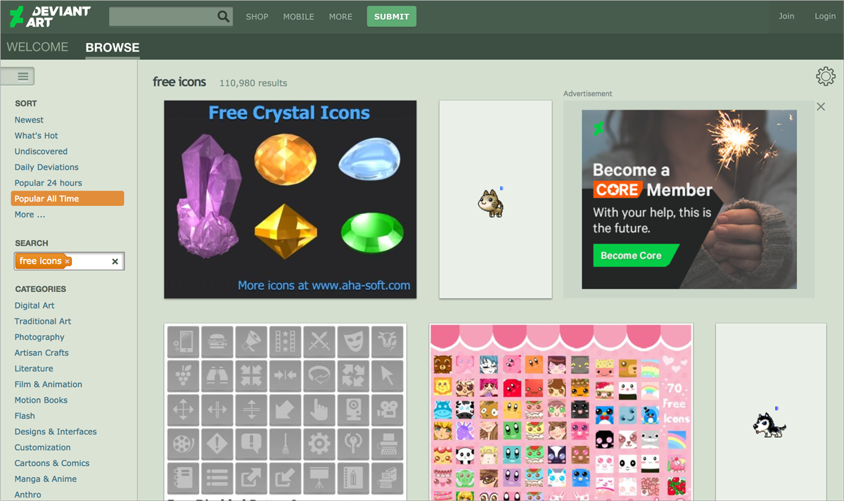 free design resources-Icons-DeviantArt