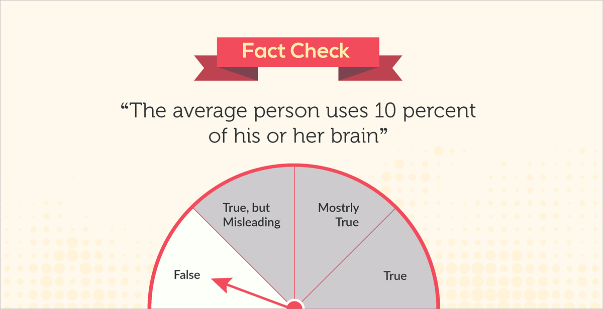 "debunked 10 common myths about our visual brain ""the average person uses 10 percent of his or her brain"""