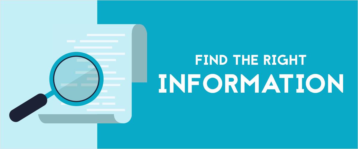 Find-the-right-information