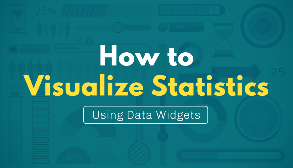 how to create visual statistics using data widgets