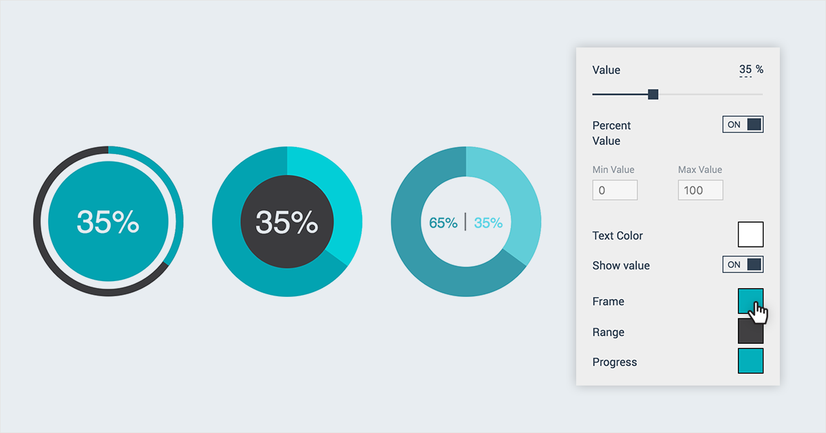 visual statistics data widgets visme