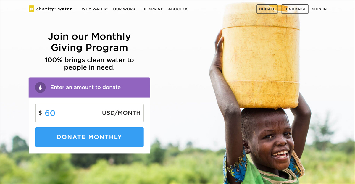 17 Creative Visual Marketing Campaigns by Nonprofits-Charity-Water
