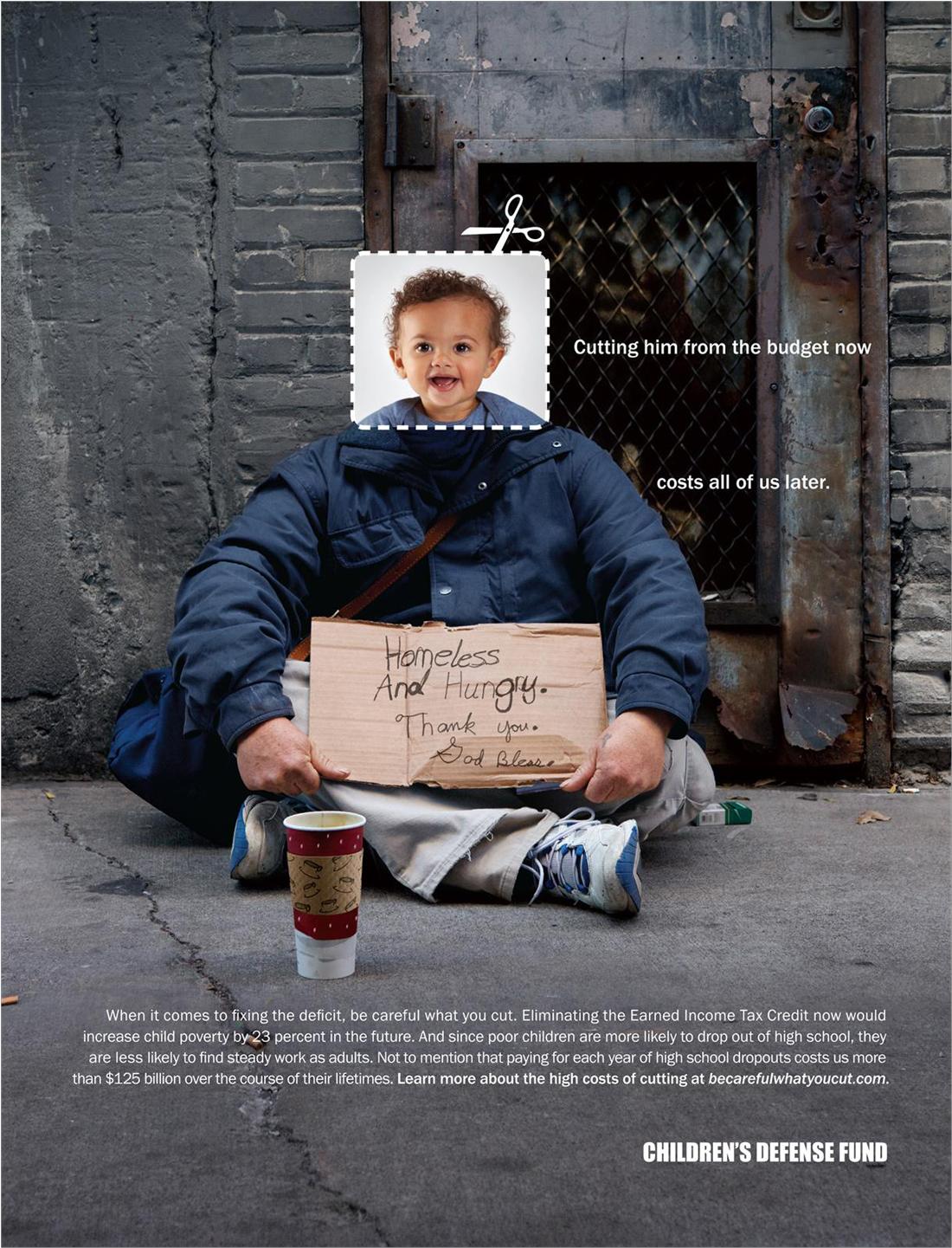 17 Creative Visual Marketing Campaigns by Nonprofits-Children-s-Defense-Fund