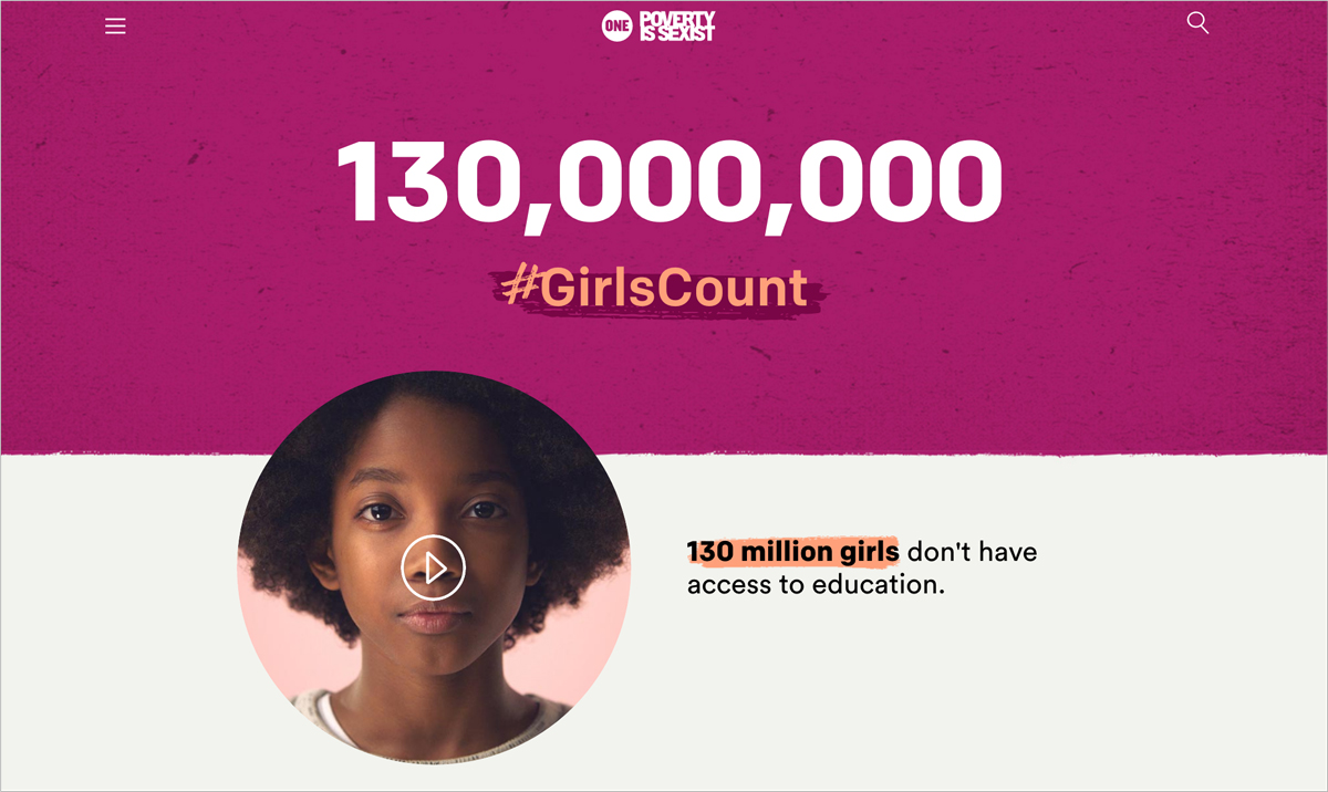 17 Creative Visual Marketing Campaigns by Nonprofits-ONE-every-girl-counts