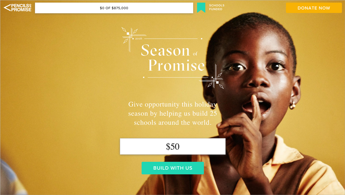 17 Creative Visual Marketing Campaigns by Nonprofits-Pencils-of-Promise