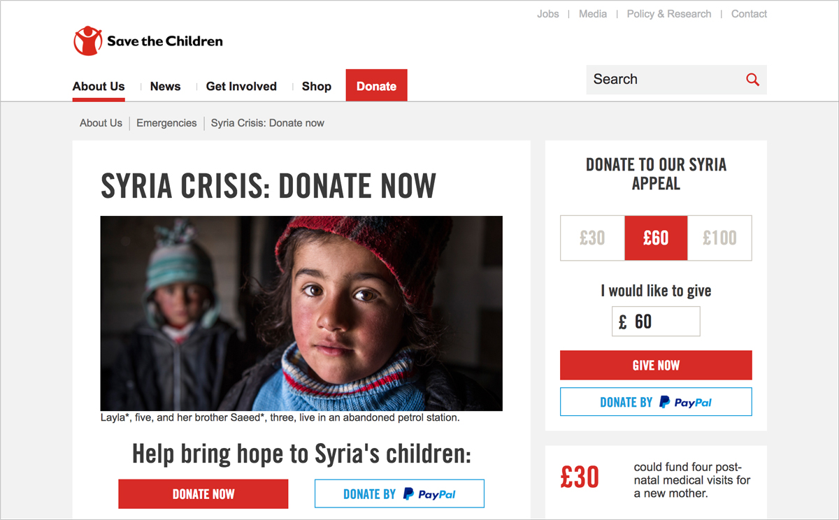17 Creative Visual Marketing Campaigns by Nonprofits Save the Children UK