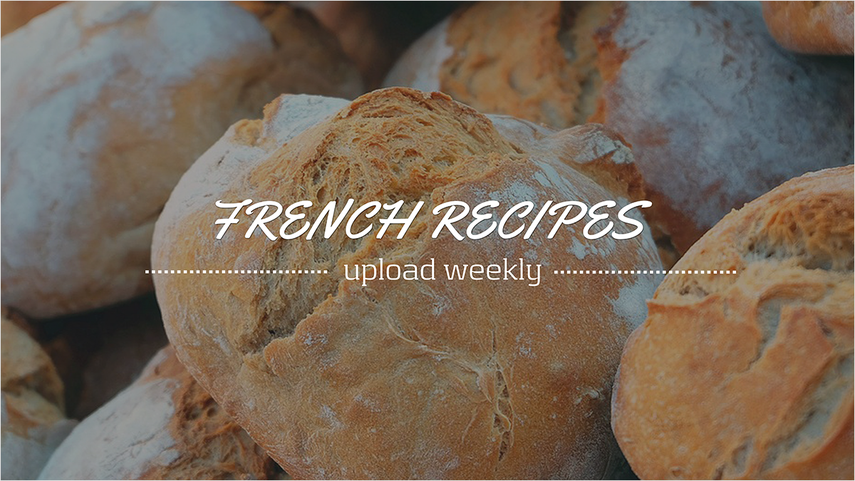 French-Recipes-youtube-banner-template-channel-art-recipe-food-bread-flour-weekly-upload-meal-eat-starch