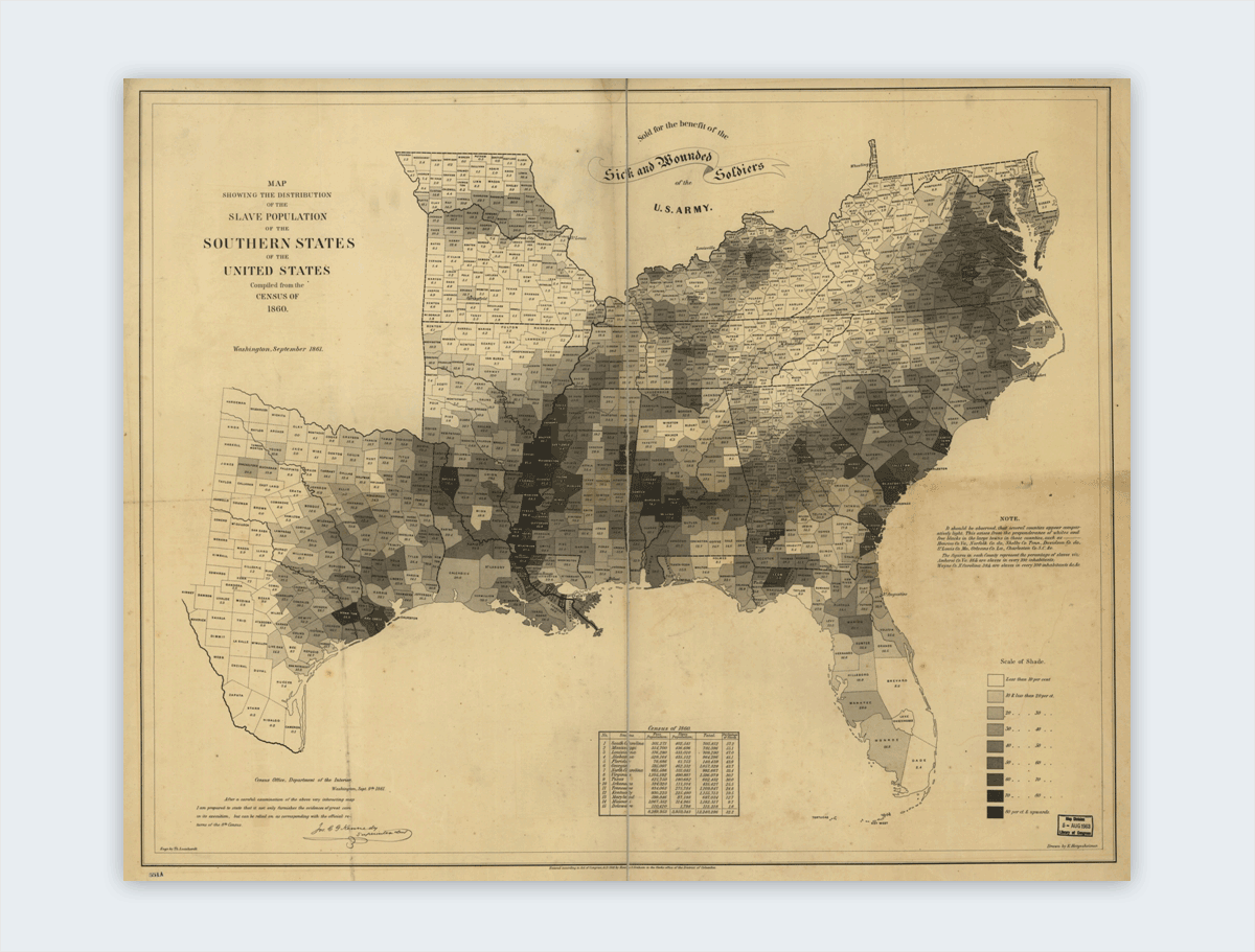 coast survey slavery map interesting infographics