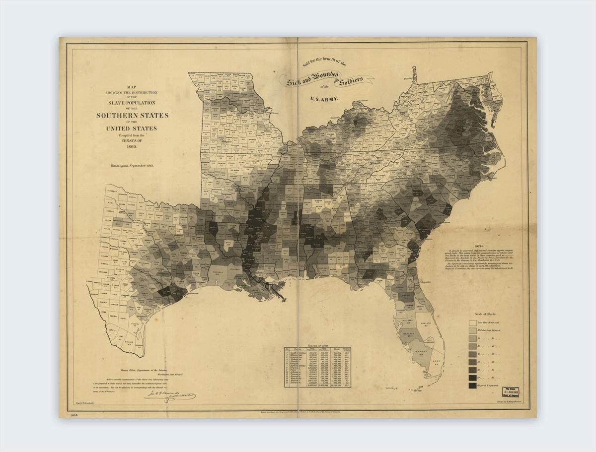 coast survey slavery map interesting infographics