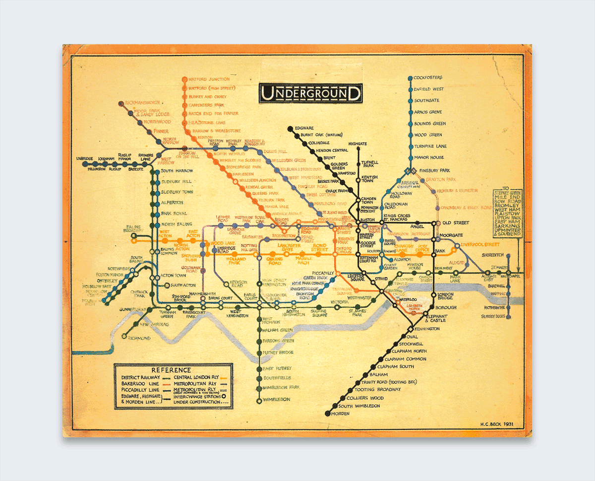 beck london tube map interesting infographics