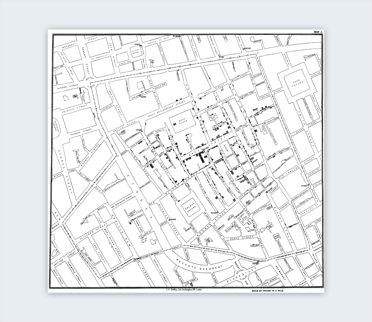 interesting infographics john snow's cholera map