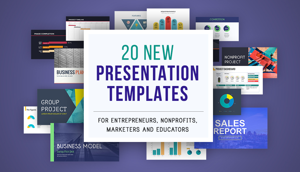 20 New Presentation Templates For Entrepreneurs Nonprofits Marketers And Educators
